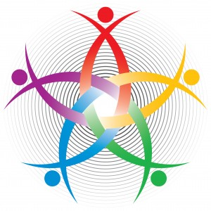 Human Resources colorful symbol or company design